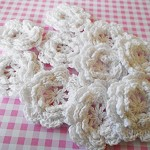 5 White Crochet Flowers