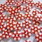 20 Red and White Polka Dot Wooden Buttons.