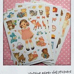 vintage paper doll stickers FREE post