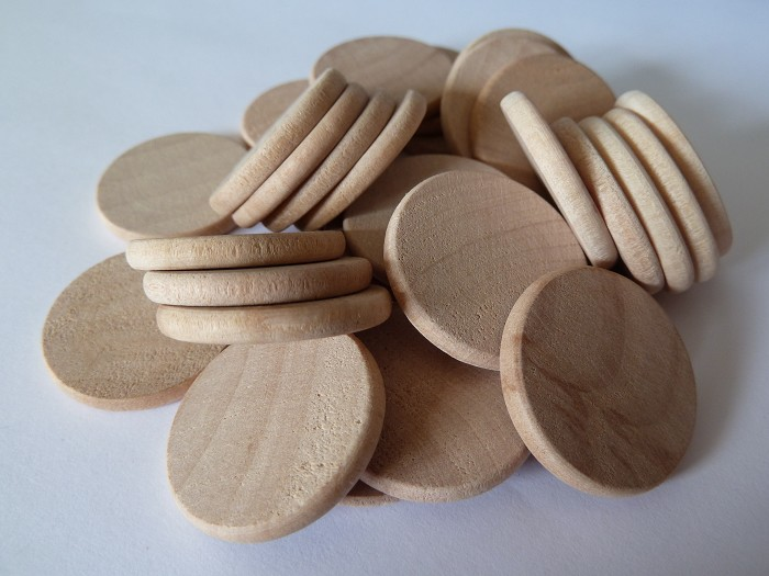 10 x 1 Inch rounded edge wooden disks