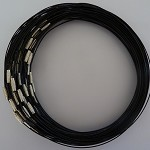 10 x Black coated stainless steel choker wire