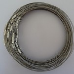 10 x grey/silver coated stainless steel choker wire