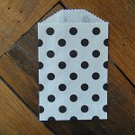 White with Black Polka Dots - Small Favour Bags (Set of 10)