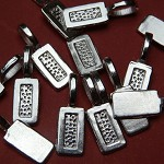 10 Silver Plated Tag Glue on Bails