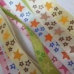 5 yards Star Satin Ribbon 9-10mm