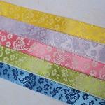5 yards Floral Satin Ribbon 10mm