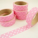 40% OFF! Japanese Washi Tape 15mm x 5mts Pink Hearts