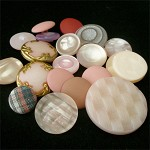 Pink vintage shank button mix