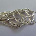 10 x Stirling silver plated snake chain