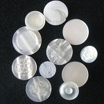 11 white sparkle pearly opaque button mix