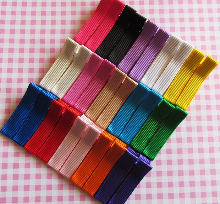 30 Grosgrain Covered Hair Clips-All Occasions Pack-Set B