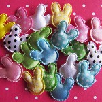 20 Padded Tiny Bunny Heads. Fantastic for Easter crafts.