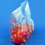 25x Medium Clear GUSSETED CELLO / CELLOPHANE BAGS - 180 x 100 x 50mm
