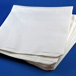 100x SQUARE WHITE Bleached FLAT Kraft Paper Bags - 177 x 177mm