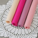 100% pure new wool felt in pinks, hot pink and peach, bundle of 4