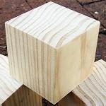 WOODEN BLANKS 7cm Pine Blocks Toymaking Set of 3