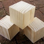 WOODEN BLANKS 7cm Pine Blocks Toymaking Set of 3