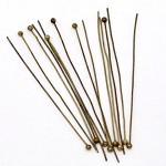 50PCs Antique Bronze Ball Head Pins 50mm x 0.5mm