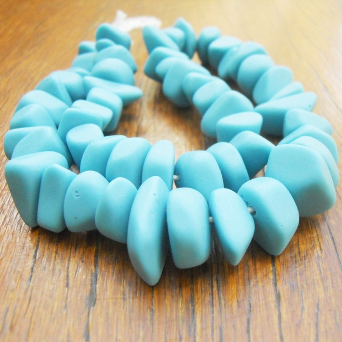 Resin Ice Chip beads Solid Turquoise Blue