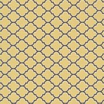 60cms - Lodge Lattice in Vintage Yellow from Aviary 2 by Joel Dewberry
