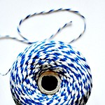 Super Chunky {24ply} Blue Twine {10.0m} | Blue White Bakers Twine or Cord