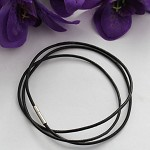Custom order for Lisa 30 Black Leather cord necklaces 50cm