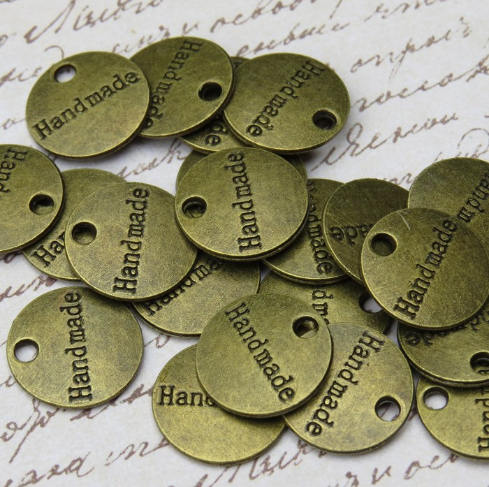 15 Antique Bronze Handmade Charms