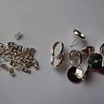 20 x 12mm earring studs (10 pairs) - silver plated