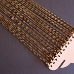 "12 Belcher Link 30"" Antique Bronze Long Chain Necklace"