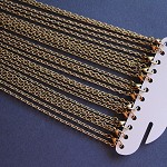 "12 Textured Rolo Link 30"" Antique Bronze Necklace (72.6cm)LAST SET"
