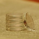 20 Clear Round Circle Glass Tiles...1 Inch... Fits 1 inch trays