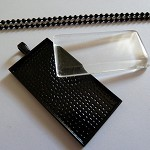 10 x DIY Rectangle black pendant kit