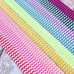 9 Chevron Elastic Headbands 9 Colours.
