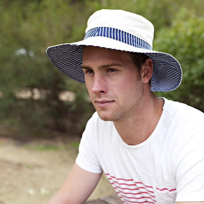 Mens Hat Pattern PDF Sewing Pattern Broad Brimmed Sun Hat for Man or Older Boy