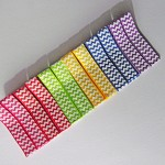 12 ChevronGrosgrain CoveredHair Clips/6 Colours.