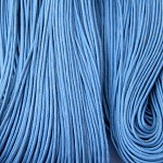 10mts Blue Waxed Cotton Necklace Cord 1mm