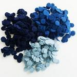100 Pcs DIY 15mm Wool Felt Circles - BLUE BIRD