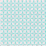 90cms - Stitch Petal in Aqua from Aqua and Red by Michael Miller