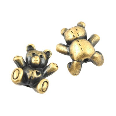 Teddy Bear Beads - 10pcs