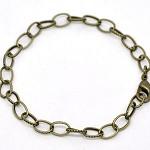 4x  Antique Bronze Rolo Link Bracelet.