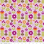 1.5mtrs - Matryoshka Garden in Purple from Little Matryoshka -Riley Blake Design