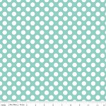 40cms - Matryoshka Dots in Aqua from Little Matryoshka -Riley Blake Design