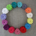 Value pack of 25 Crochet flowers in your choice of colours