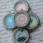 5 Coloured Watch Face Charms
