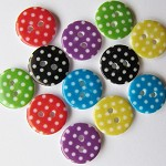 24 Polka Dot Buttons