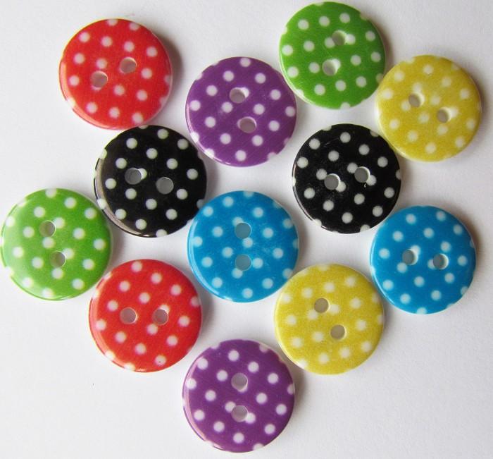 24 Polka Dot Buttons Last Set