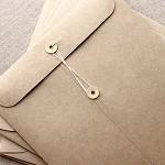 C4 Brown Kraft String and Button Envelopes - 5 Pack - String & Tie Envelope