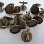 10 x 16mm Cufflink trays- Antique Bronze