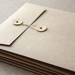 5 Brown Kraft String and Button Envelopes 5 1/4 x 7 1/4 inches (134mm x 184mm)