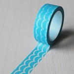 NEW! Washi Tape 15mm x 10mts AQUA SCALLOPS
